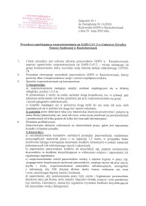 Zarządzenie Kierownika GOPS w Raciechowicach w sprawie organizacji i zasad funkcjonowania Gminnego Ośrodka Pomocy Społecznej w Raciechowicach w związku ze stanem epidemii-3