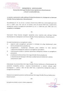 Zarządzenie w sprawie koordynatora ds. dostępności-1